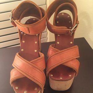 Chloe wedge platform sandals size 39